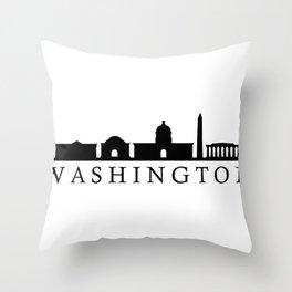 skyline washington Throw Pillow