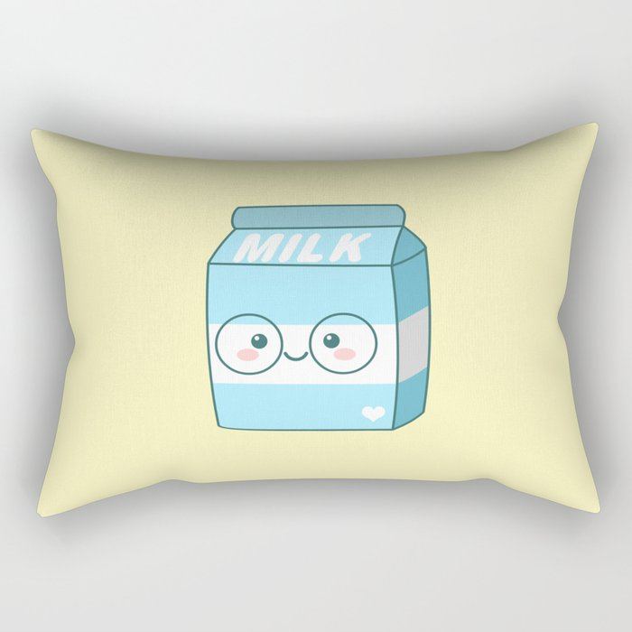 Kawaii Milk Rectangular Pillow