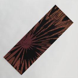 Native Tapestry in Burnt Umber Yoga Mat