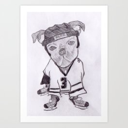 ice hockey bugg dog Art Print