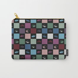 UFO checkered art print Carry-All Pouch