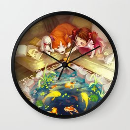 Puzzles of Imagination: Koi Pond Wall Clock