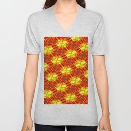 Window's colored pattern Unisex V-Neck