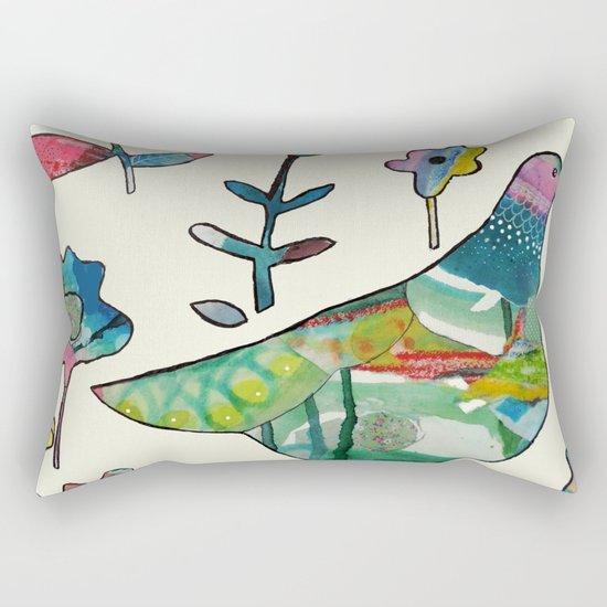 dove in the garden Rectangular Pillow