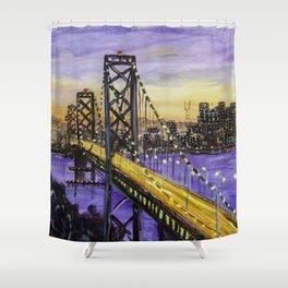 Indigo Night San Francisco Shower Curtain