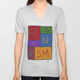 Intersectional Feminism In Colour Unisex V-Neck