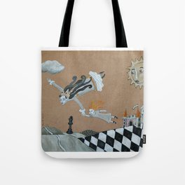 Alice and The Queen Tote Bag