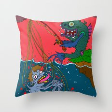 Fishin' time! Throw Pillow