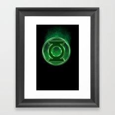 Green Lantern Spectre Framed Art Print