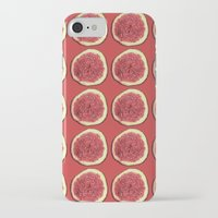 fig iPhone & iPod Cases featuring fig by Panic Junkie