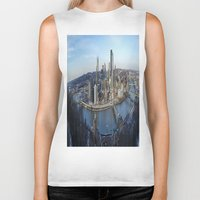 pittsburgh Biker Tanks featuring PITTSBURGH CITY by Stephanie Bosworth