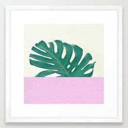 Monstera Dip Framed Art Print