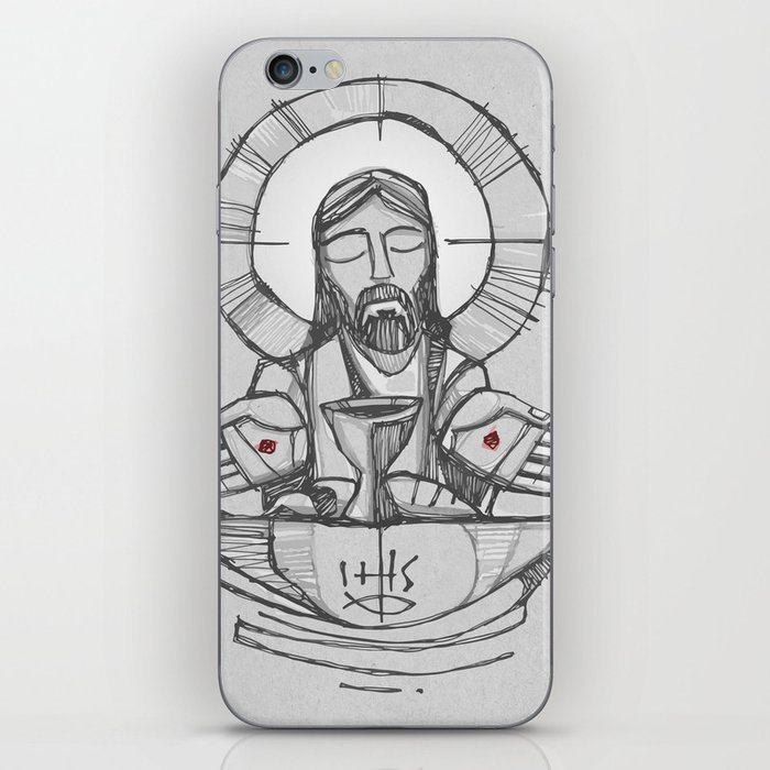 Jesus Christ Eucharist illustration iPhone Skin