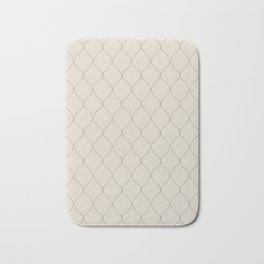 Alva Subtle Line Pattern - Smoke Bath Mat
