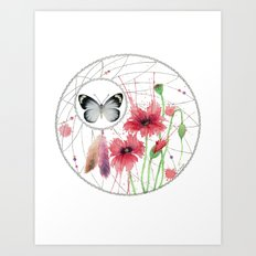 Dreamcatcher No. 2 - Butterfly Illustration Art Print