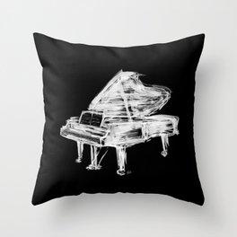 Black Piano Throw Pillow