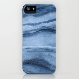 Indigo Blue Agate Pattern iPhone Case
