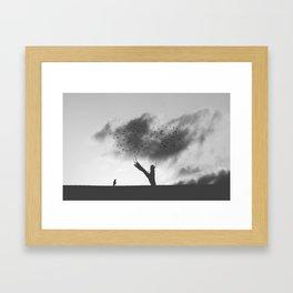 embrace the struggle Framed Art Print