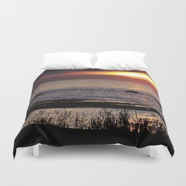 Surreal Seaside Sunset Duvet Cover