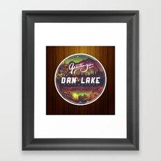 Greetings from Dan Lake CA Framed Art Print