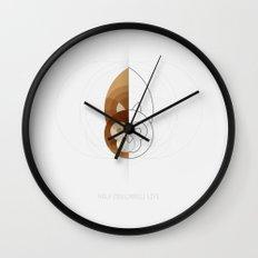 HALF (squirrel) LIFE Wall Clock