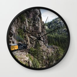 A Durango  Silverton Narrow Gauge Railroad (DSNG) above the Animas River Valley in La Plata County C Wall Clock