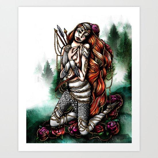 Astrology Illustration Series-Sagittarius Art Print