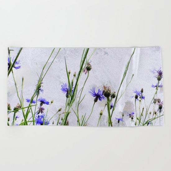 Cornflowers blue II Beach Towel