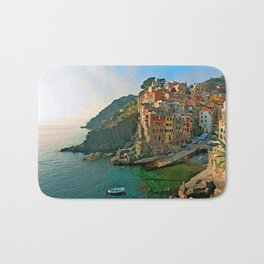 Italy. Cinque Terre - Canal side Bath Mat