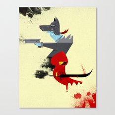 Red Hood & The Badass Wolf Redux Canvas Print