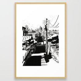 Peaceful street Framed Art Print