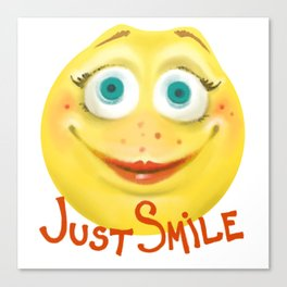 Just Smile :) Canvas Print