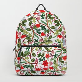 Christmas Floral Pattern Backpack