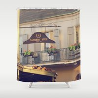 napoleon Shower Curtains featuring Napoleon Corner by Briole Photography
