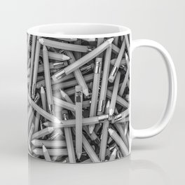 Pencil it in B&W / 3D render of hundreds of pencils in black and white Coffee Mug