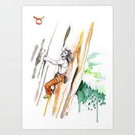 Tenacious Taurus Art Print