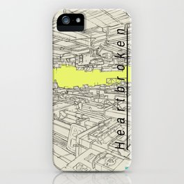 Heartbroken City Alley Anime Style Drawing iPhone Case
