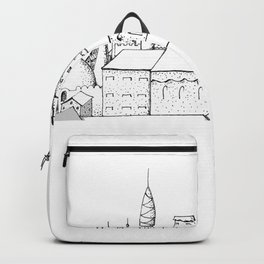 fabulous city . art . black and white Backpack