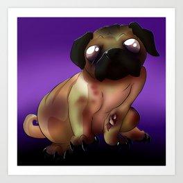 Night of the living Pug  Art Print