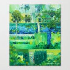 Monetcraft aka. the Advent of Pixelism Canvas Print