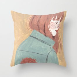 Chrysanthemum Jacket Throw Pillow