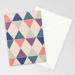 Colorful Triangle Pairs Stationery Cards