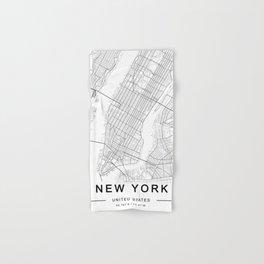 New York Map, Manhattan, USA City Map Hand & Bath Towel
