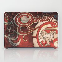 mucha iPad Cases featuring Alphonse Mucha inspired Art Nouveaux Cadmium Illustration by Cadmium Craig