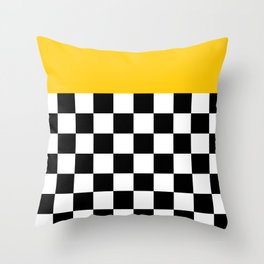 Marigold & Checkers Throw Pillow