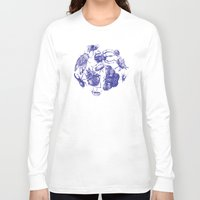 insect Long Sleeve T-shirts featuring Insect Toile by Cori Redford