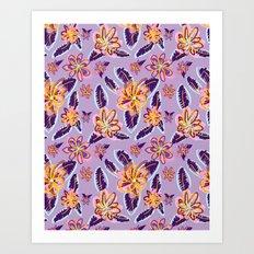 hello floral Art Print