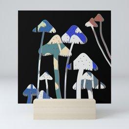 Forest Wisdom Shrooms Mini Art Print