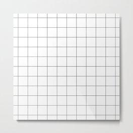 White Grid  /// www.pencilmeinstationery.com Metal Print