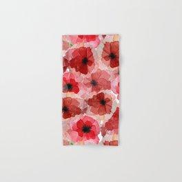 Pressed Poppy Blossom Pattern Hand & Bath Towel
